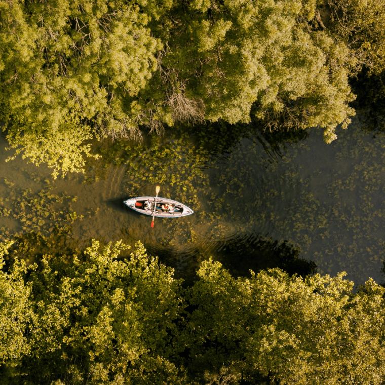 Canoe dans le Marais poitevin