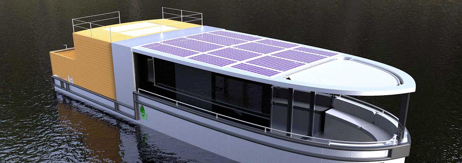 bateau électrique habitable dans le Marais poitevin